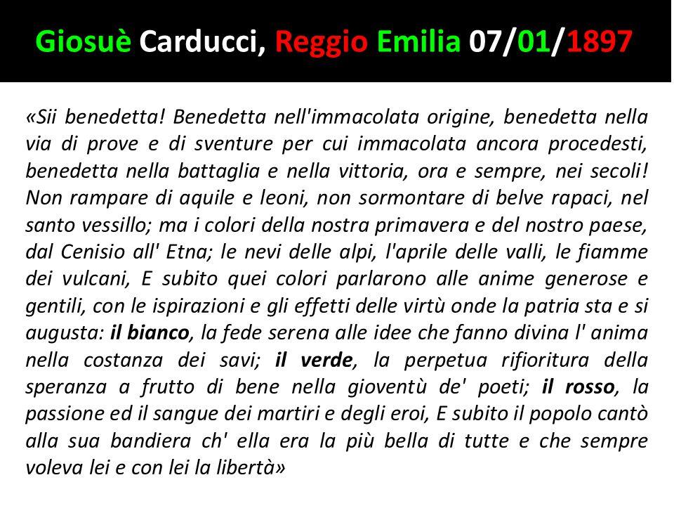 Giosuè Carducci, Reggio Emilia 07/01/1897
