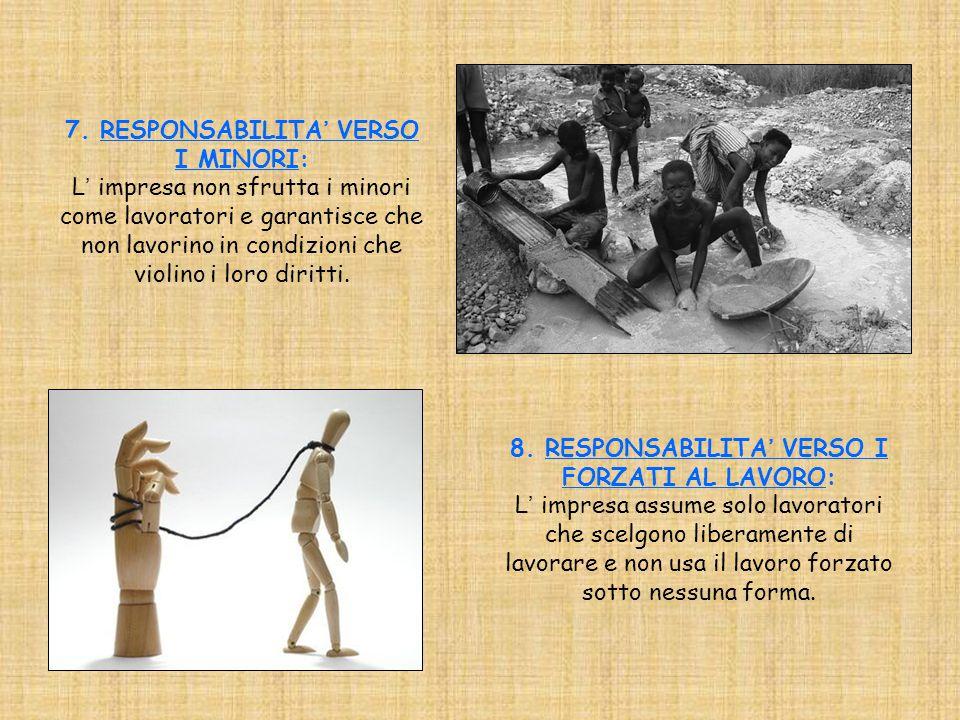 7. RESPONSABILITA' VERSO I MINORI: