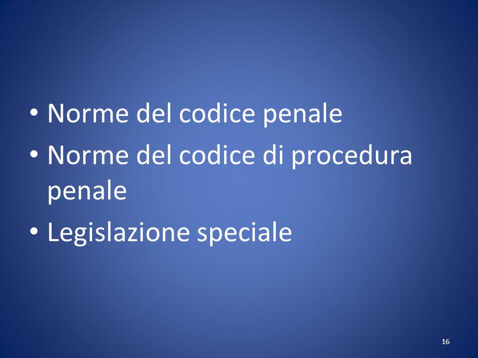 Norme del codice penale