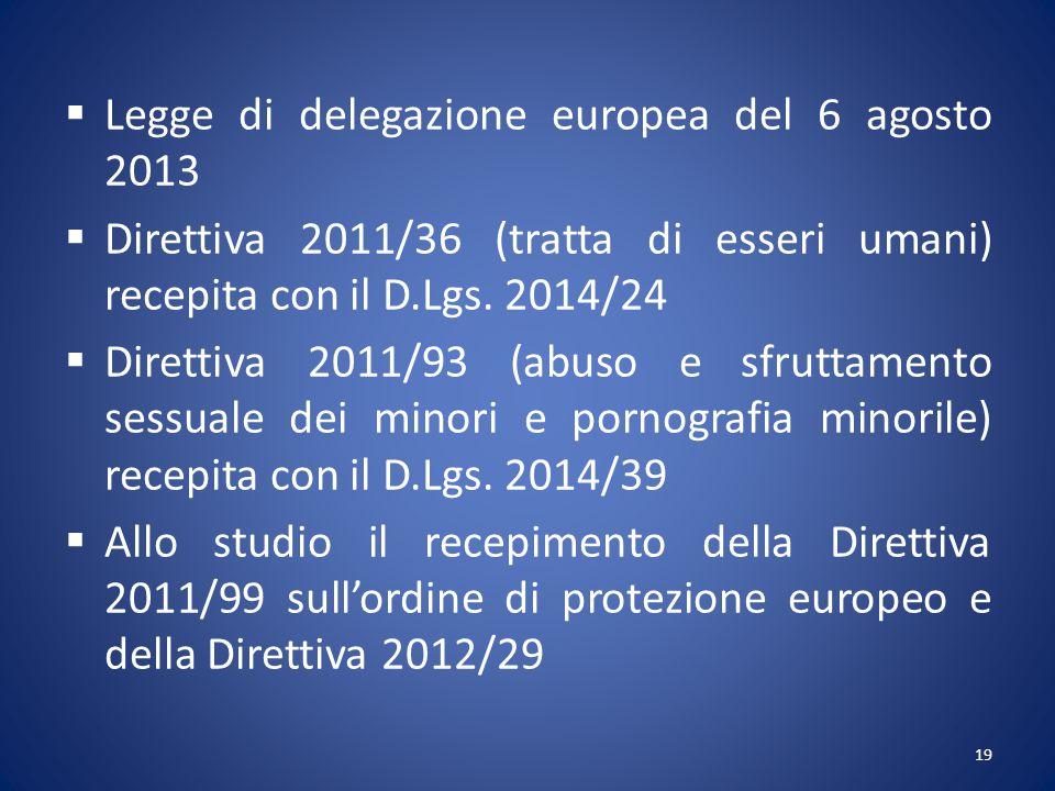 Legge di delegazione europea del 6 agosto 2013