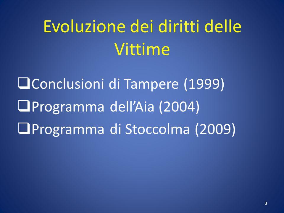 Evoluzione dei diritti delle Vittime