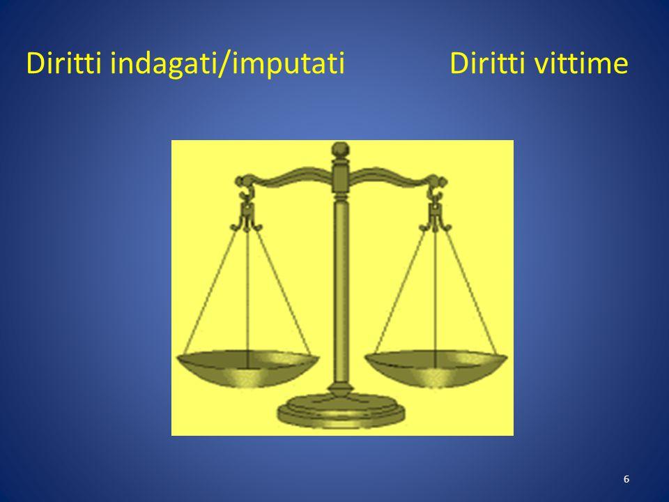 Diritti indagati/imputati Diritti vittime