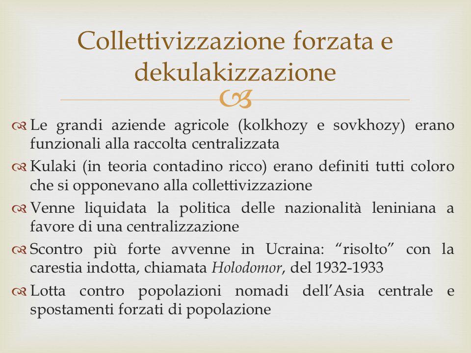 Collettivizzazione forzata e dekulakizzazione