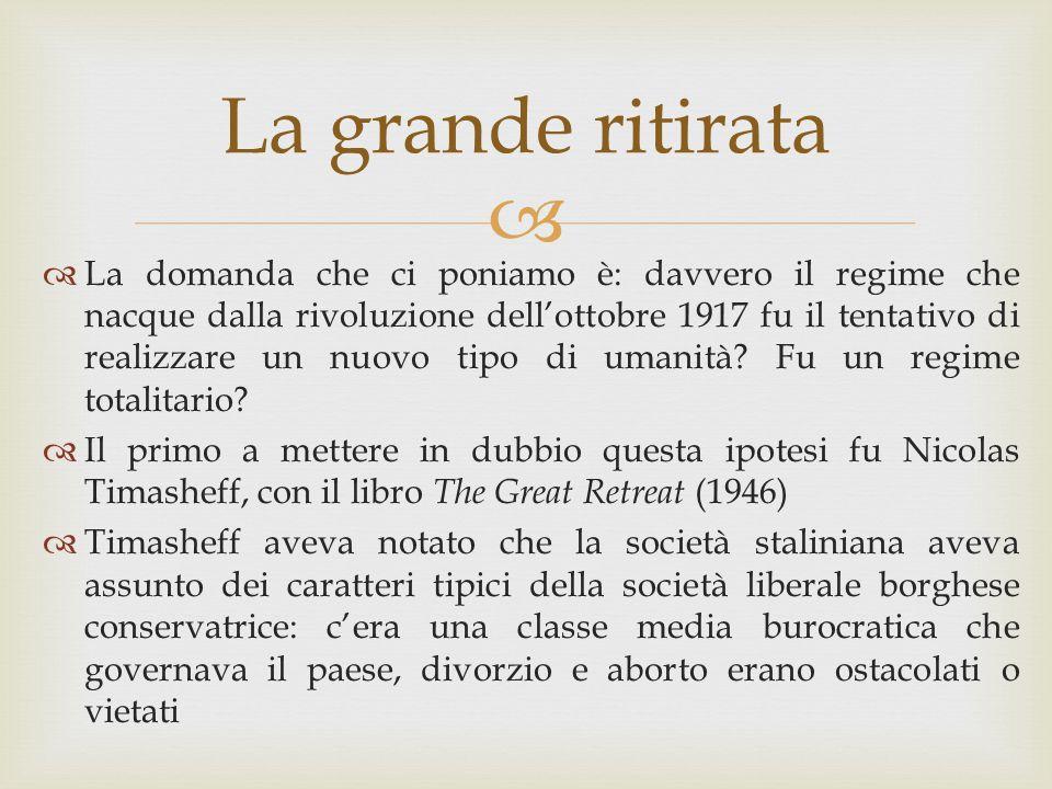 La domanda che ci poniamo è: davvero il regime che nacque dalla rivoluzione dell'ottobre 1917 fu il tentativo di realizzare un nuovo tipo di umanità Fu un regime totalitario