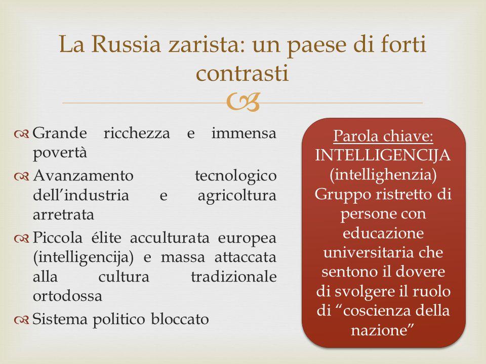 La Russia zarista: un paese di forti contrasti