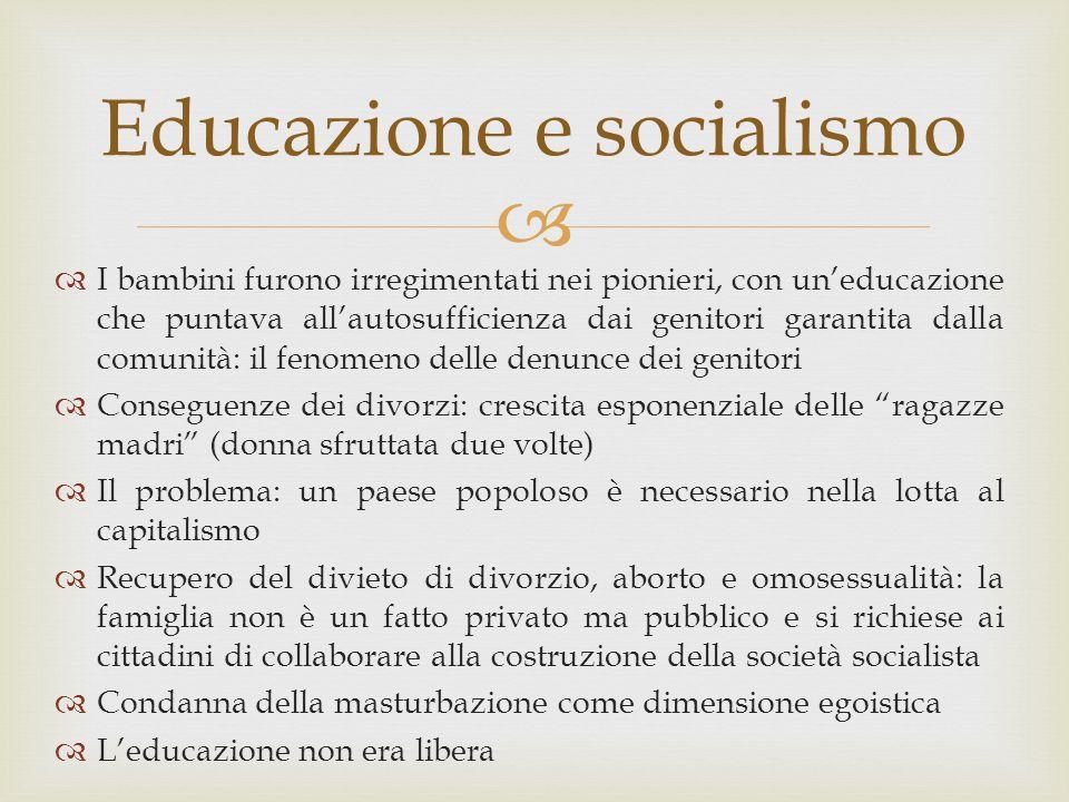 Educazione e socialismo