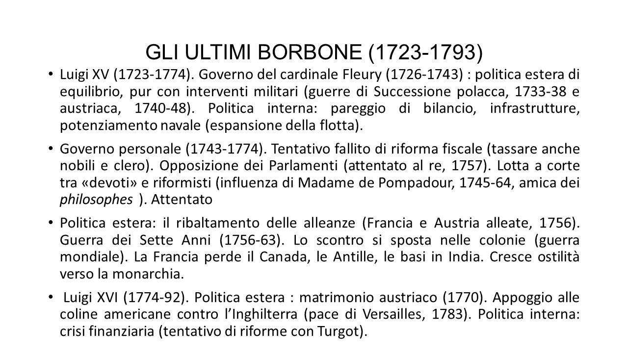 GLI ULTIMI BORBONE (1723-1793)