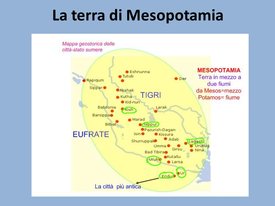 La terra di Mesopotamia