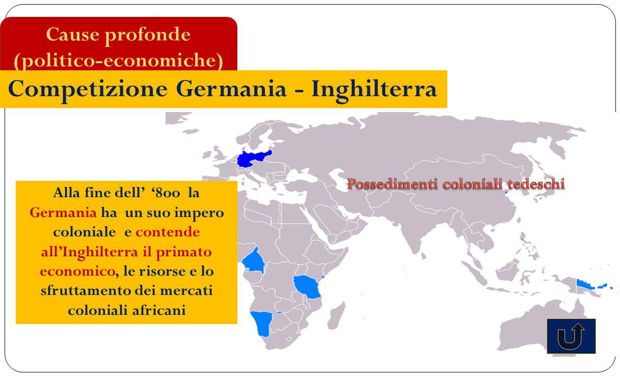 (politico-economiche) Possedimenti coloniali tedeschi