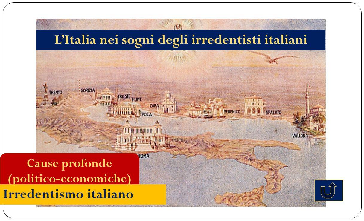 L'Italia nei sogni degli irredentisti italiani (politico-economiche)