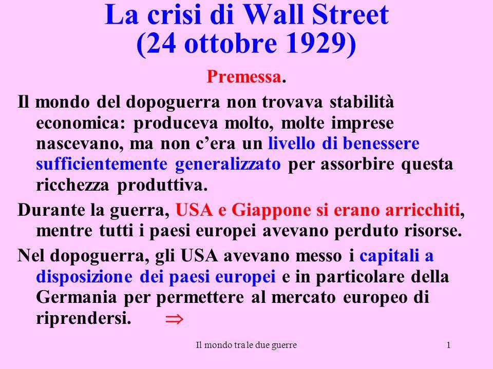 La crisi di Wall Street (24 ottobre 1929)