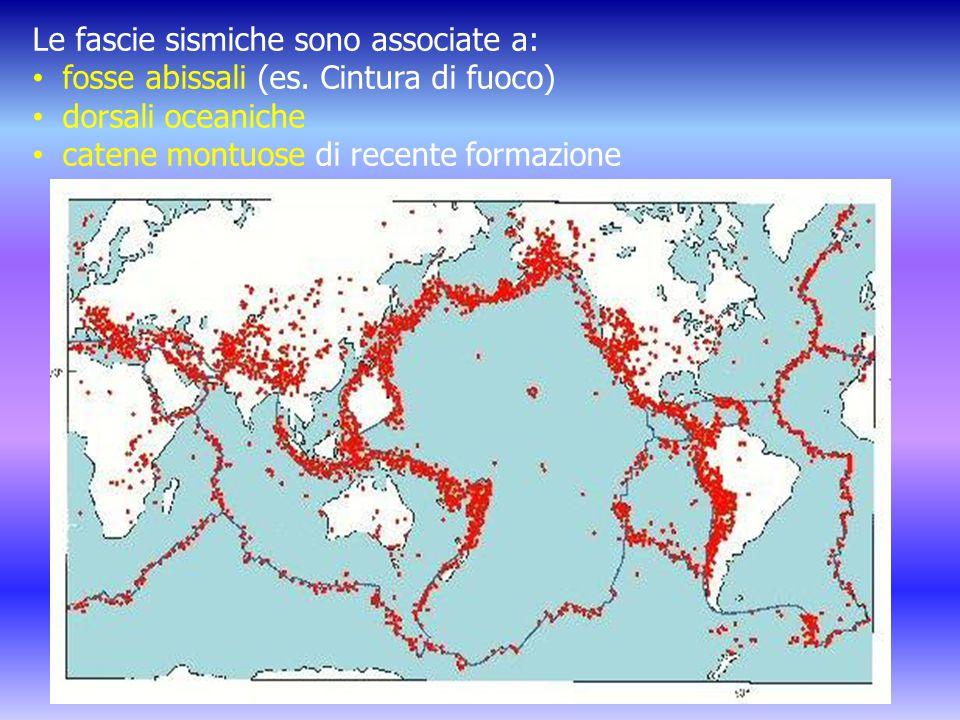 Le fascie sismiche sono associate a: