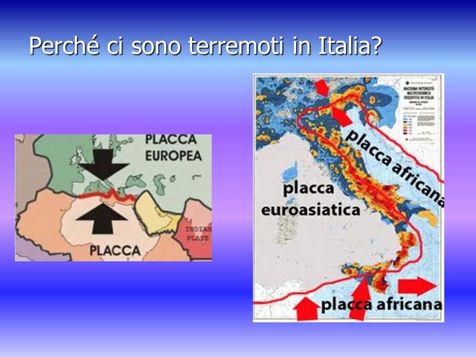 Perché ci sono terremoti in Italia