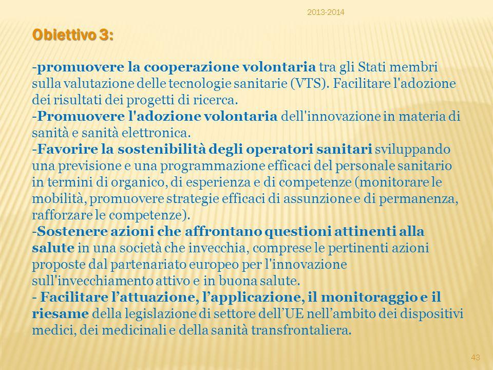 2013-2014 Obiettivo 3: