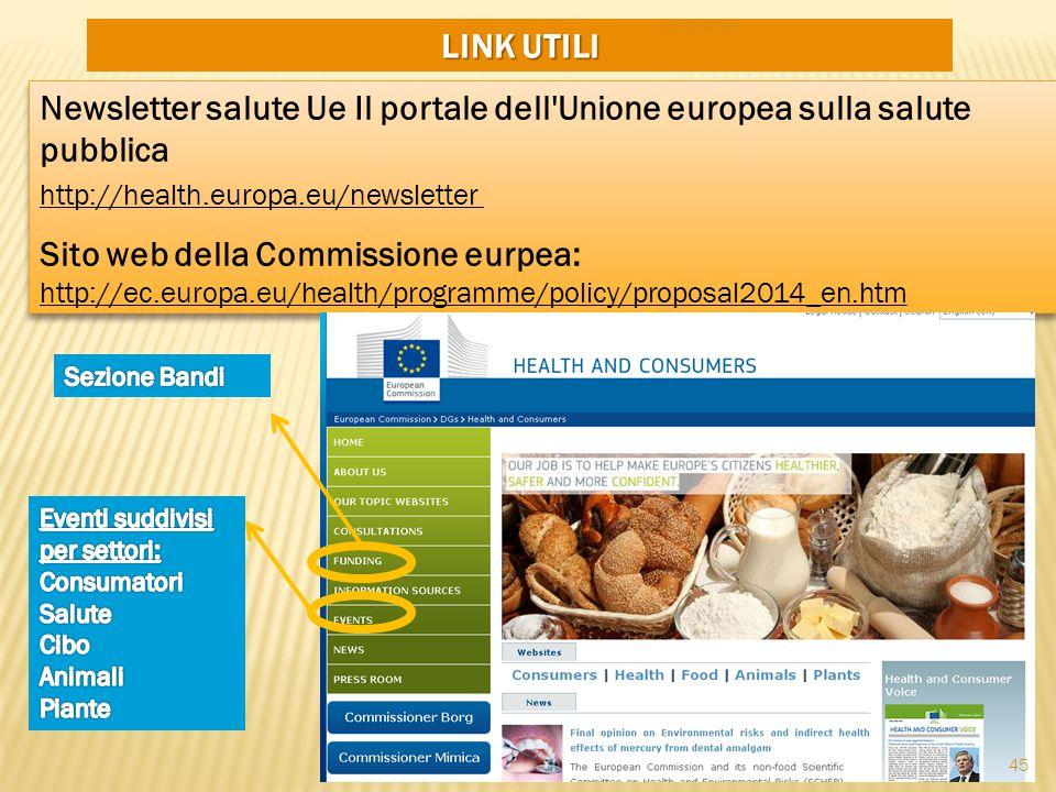Sito web della Commissione eurpea: