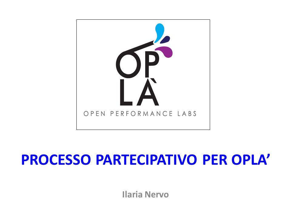 PROCESSO PARTECIPATIVO PER OPLA'