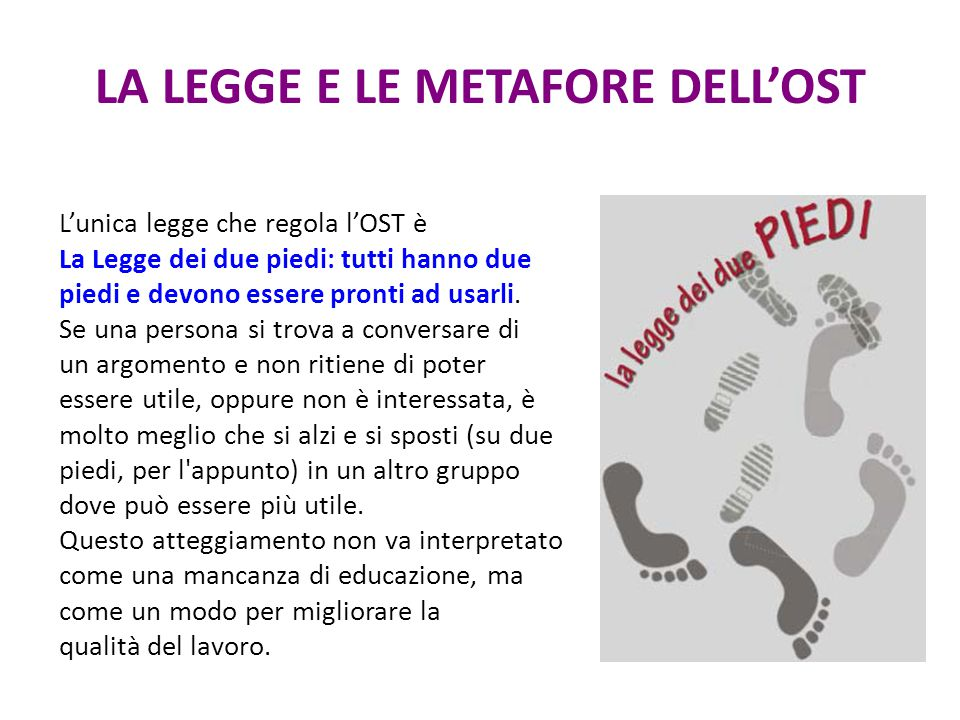 LA LEGGE E LE METAFORE DELL'OST