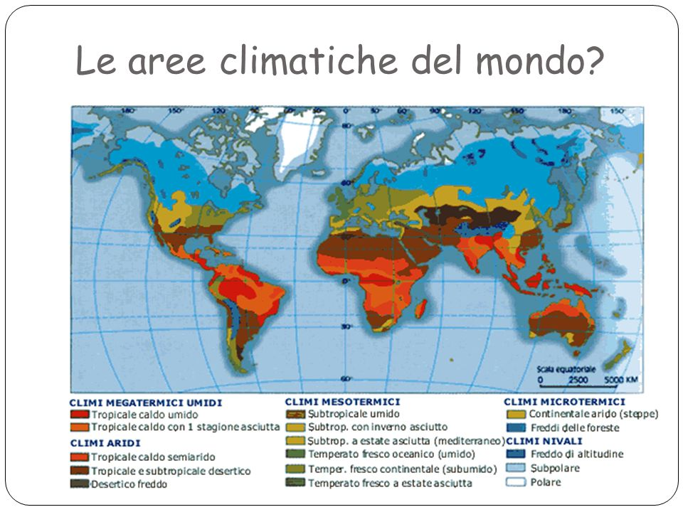 Le aree climatiche del mondo