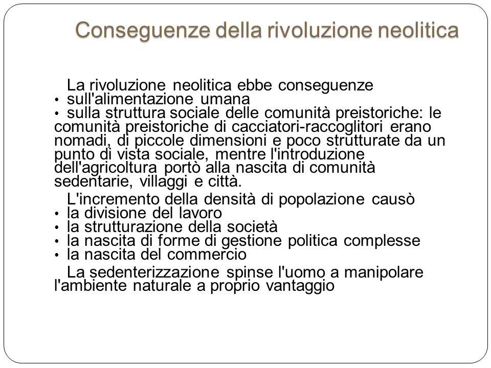 Conseguenze della rivoluzione neolitica