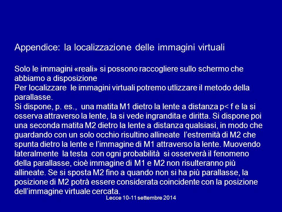 Appendice: la localizzazione delle immagini virtuali
