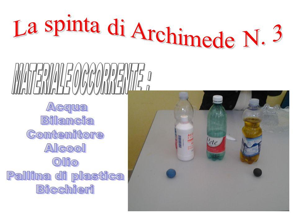 La spinta di Archimede N. 3