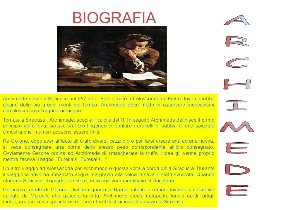 BIOGRAFIA ARCHIMEDE.