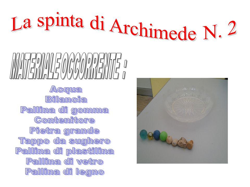 La spinta di Archimede N. 2