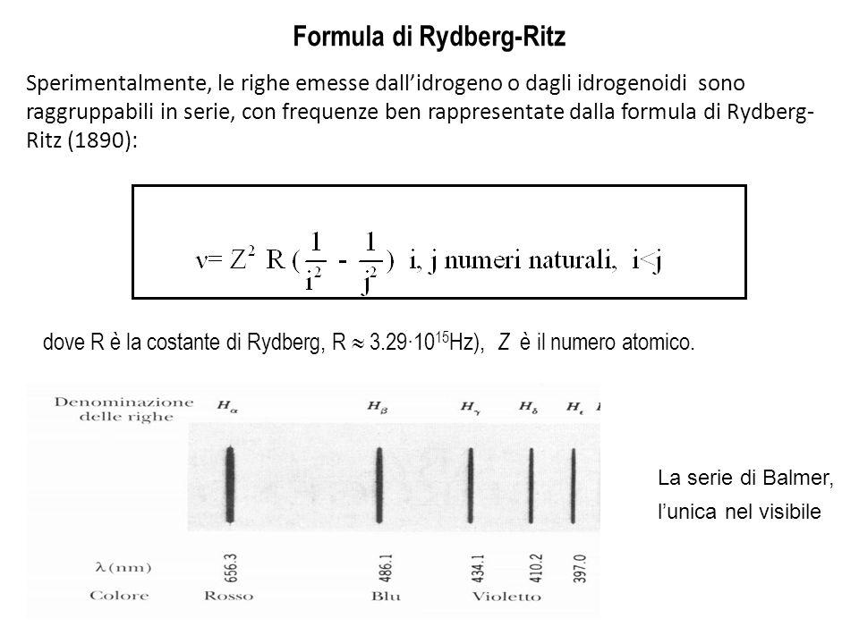 Formula di Rydberg-Ritz