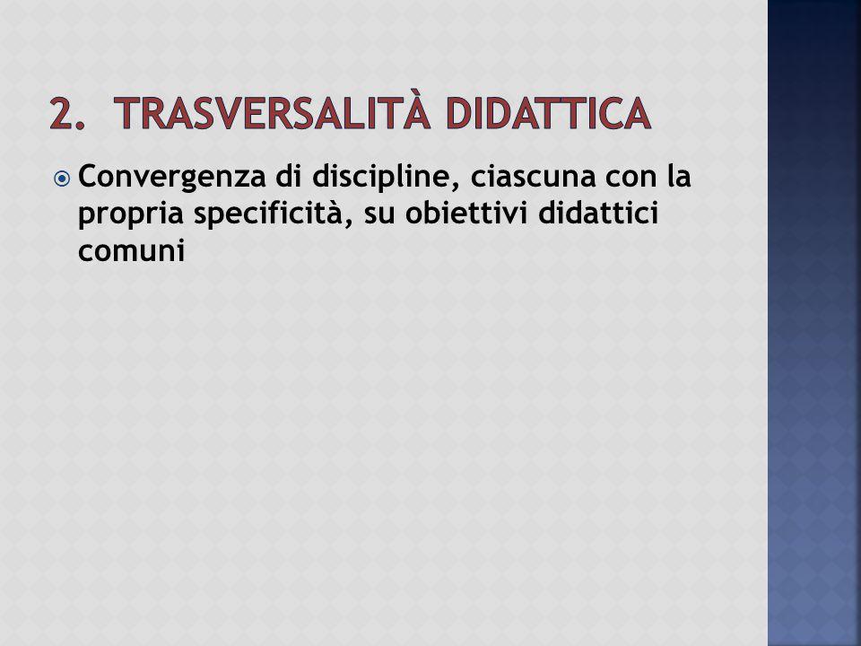 2. Trasversalità didattica