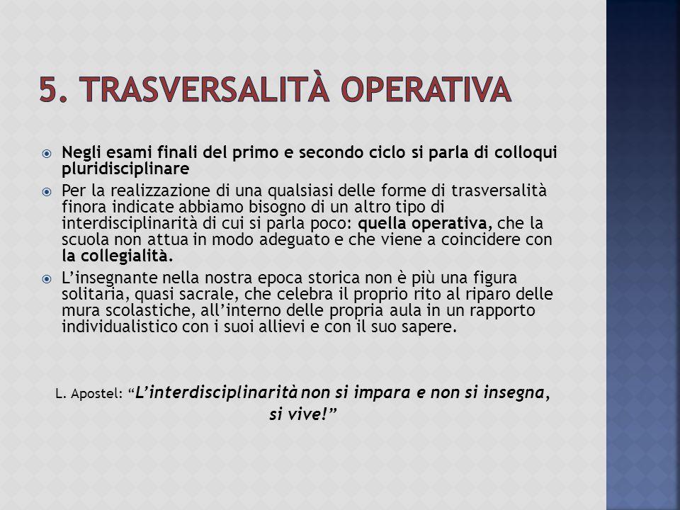 5. Trasversalità operativa