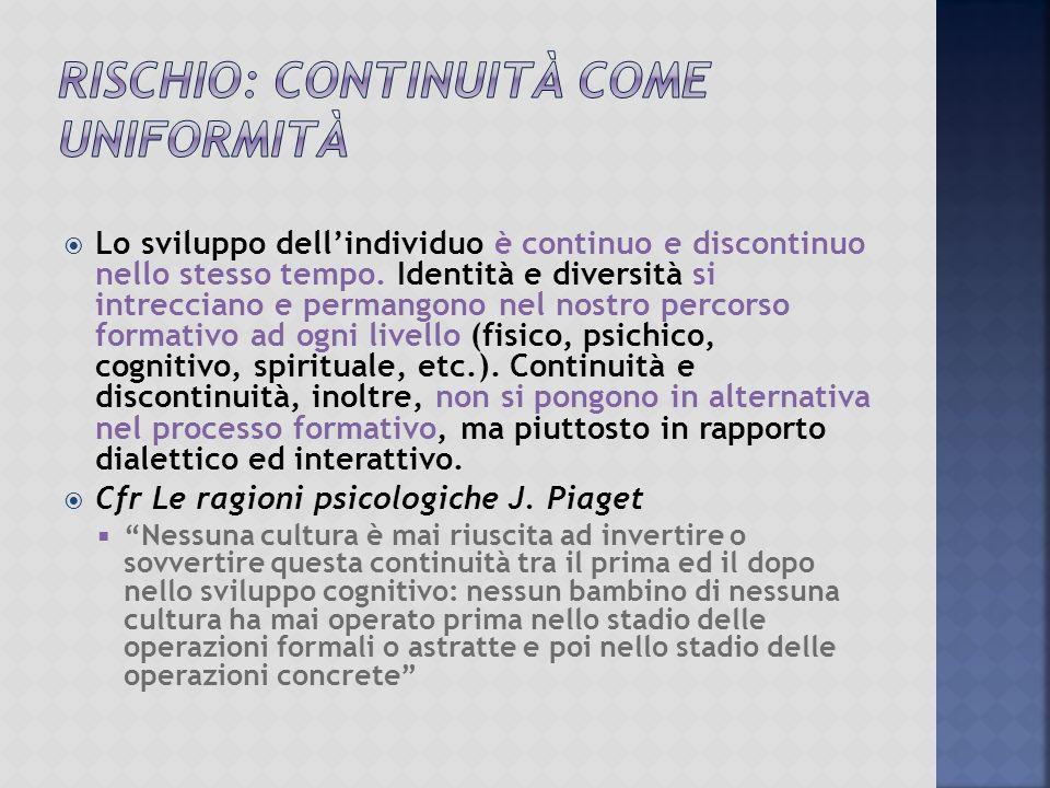 Rischio: Continuità come uniformità
