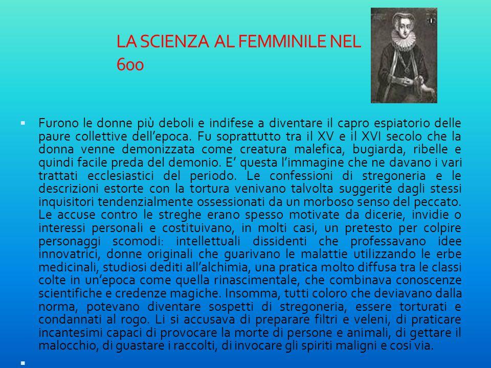 LA SCIENZA AL FEMMINILE NEL 600