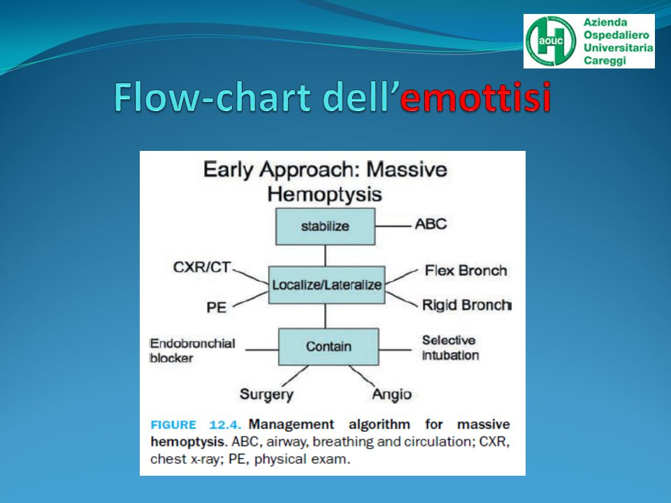Flow-chart dell'emottisi