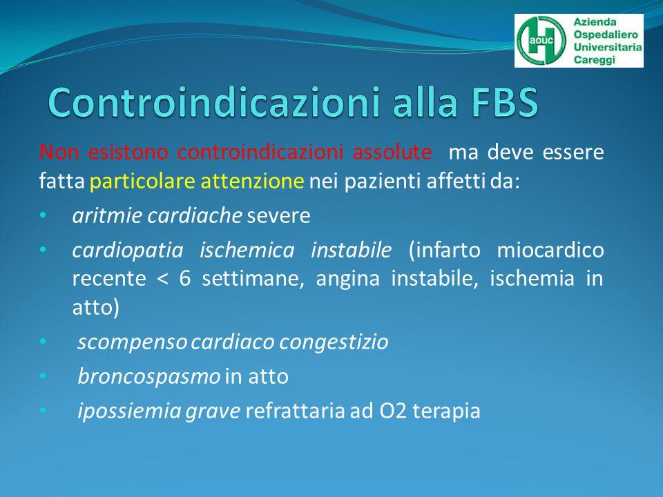 Controindicazioni alla FBS