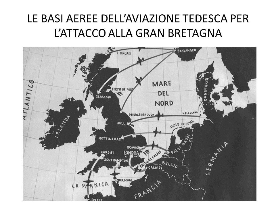 LE BASI AEREE DELL'AVIAZIONE TEDESCA PER L'ATTACCO ALLA GRAN BRETAGNA