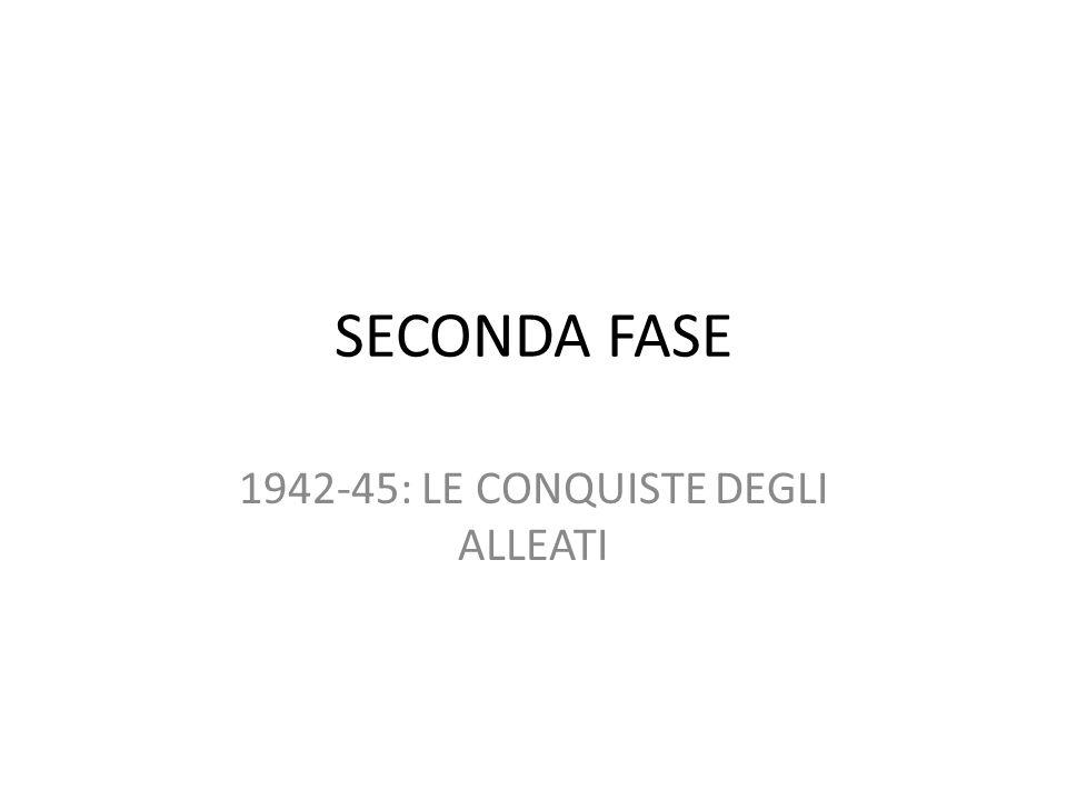 1942-45: LE CONQUISTE DEGLI ALLEATI