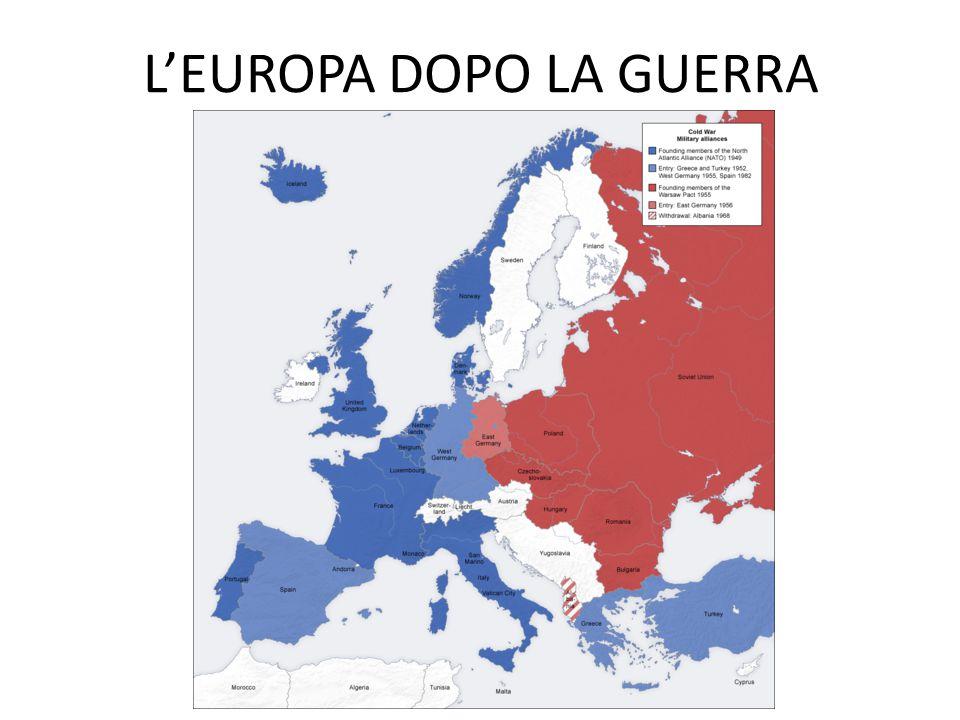 L'EUROPA DOPO LA GUERRA