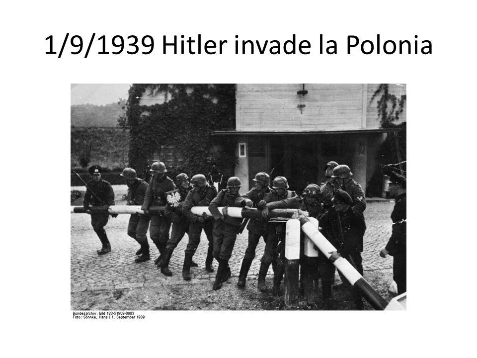 1/9/1939 Hitler invade la Polonia