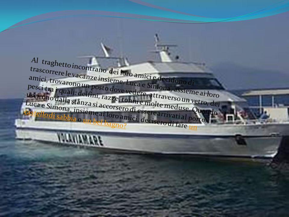Al traghetto incontrano dei loro amici e decidono di trascorrere le vacanze insieme.