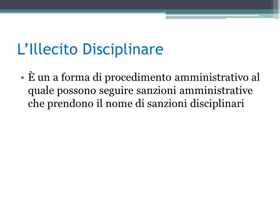 L'Illecito Disciplinare