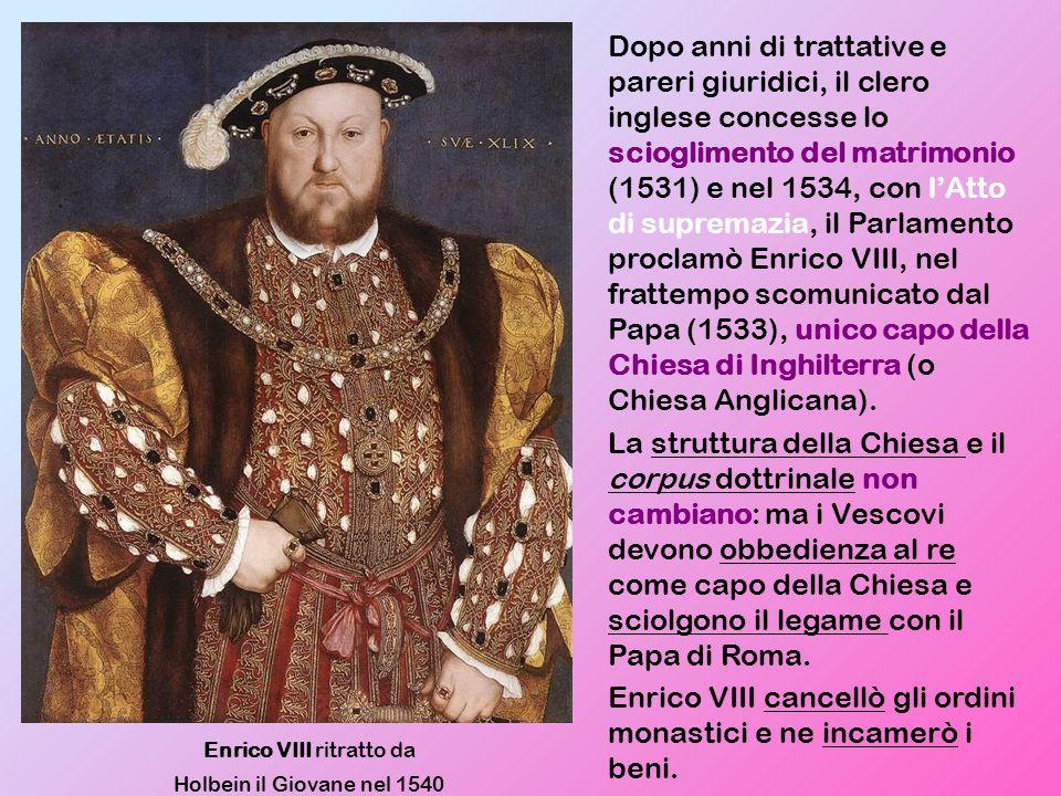 Enrico VIII ritratto da