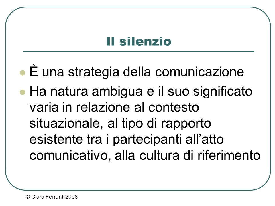 È una strategia della comunicazione