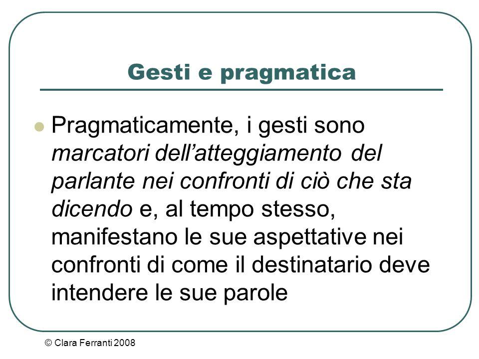 Gesti e pragmatica