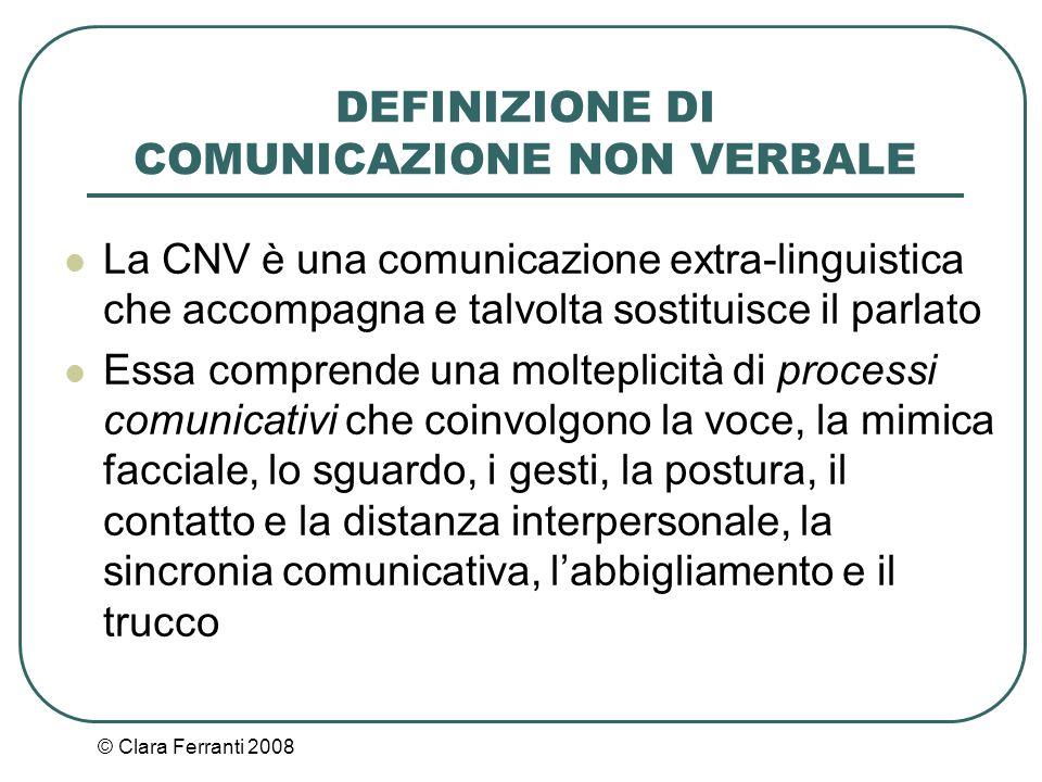 DEFINIZIONE DI COMUNICAZIONE NON VERBALE