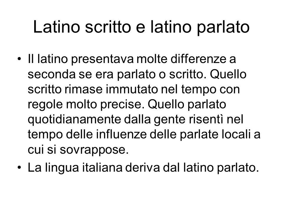 Latino scritto e latino parlato
