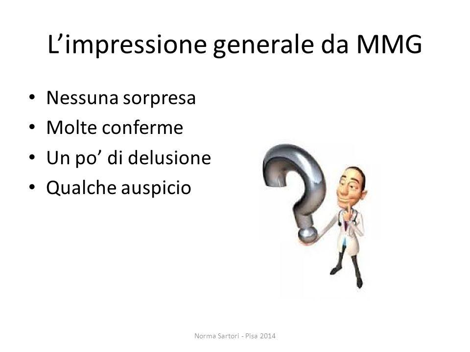 L'impressione generale da MMG
