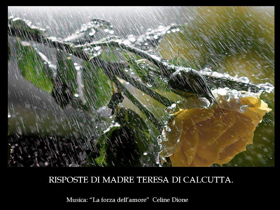 RISPOSTE DI MADRE TERESA DI CALCUTTA.