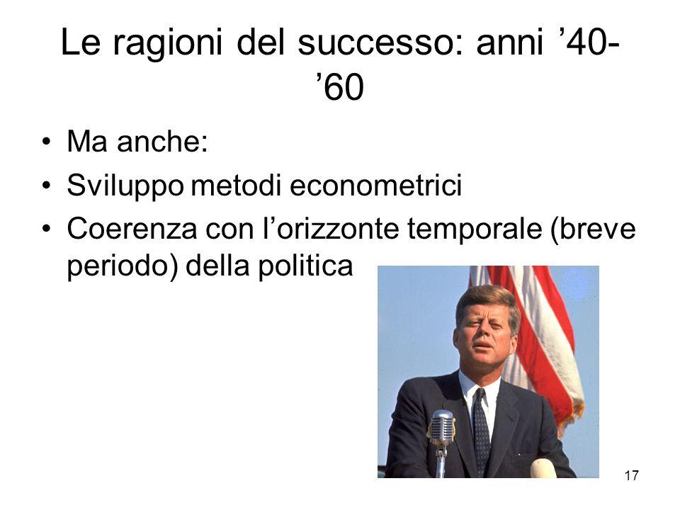 Le ragioni del successo: anni '40-'60