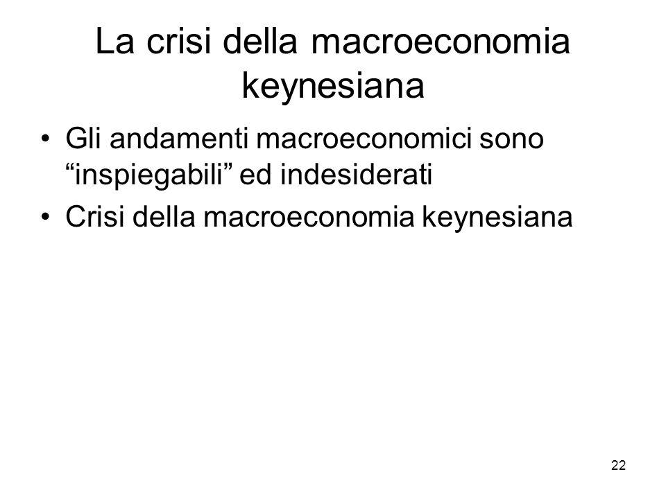 La crisi della macroeconomia keynesiana