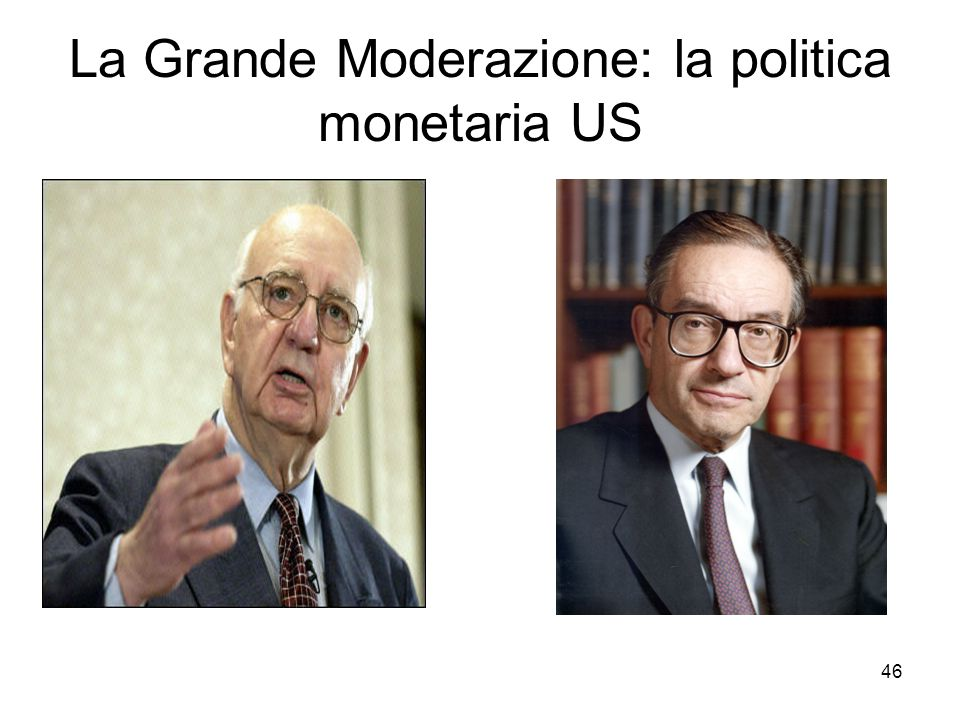 La Grande Moderazione: la politica monetaria US